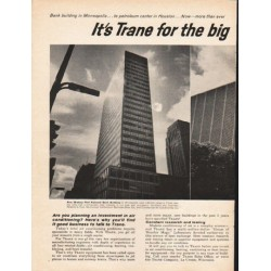 "1962 Trane Air Conditioning Ad ""for the big air conditioning jobs"""