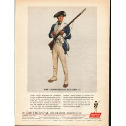 "1962 America Fore Loyalty Group Ad ""The Continental Soldier"""