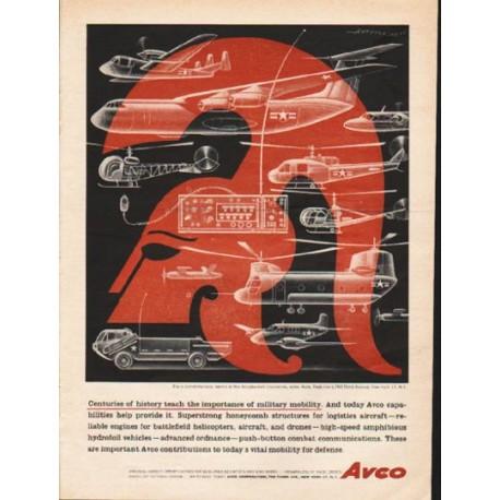 "1962 Avco Corporation Ad ""Centuries of history"""