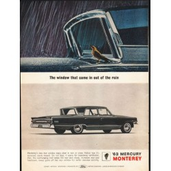 "1963 Mercury Monterey Ad ""came in out of the rain"" ~ (model year 1963)"