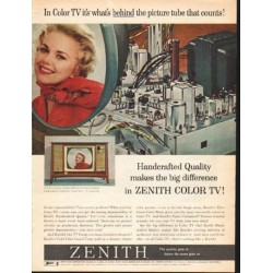 "1962 Zenith Color TV Ad ""the picture tube"""