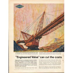 "1962 Goodyear Industrial Products Ad ""Engineered Value"""