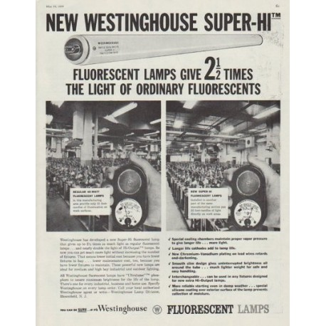 "1958 Westinghouse Ad ""Super-Hi"""