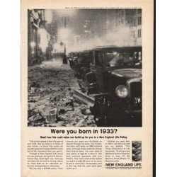 "1962 New England Life Ad ""Were you born in 1933?"""
