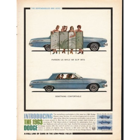 "1963 Dodge Polara Ad ""Pardon us"" ~ (model year 1963)"