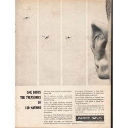 "1962 Parke-Davis Ad ""She loots the treasuries"""