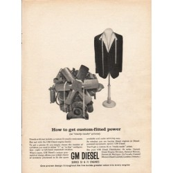 "1962 GM Diesel Ad ""custom-fitted power"""