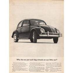 "1963 Volkswagen Ad ""such big wheels"" ~ (model year 1963)"