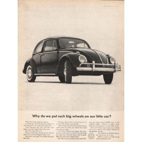 "1963 Volkswagen Ad ""such big wheels"" ~ (model year 1963)"
