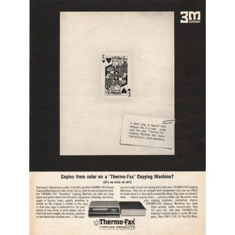 "1962 Thermo-Fax Copying Products Ad ""Copies from color"""