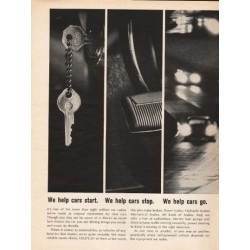 "1962 The Bendix Corporation Ad ""We help cars start"""