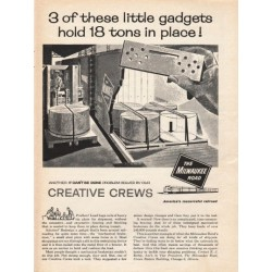"1962 The Milwaukee Railroad Ad ""these little gadgets"""