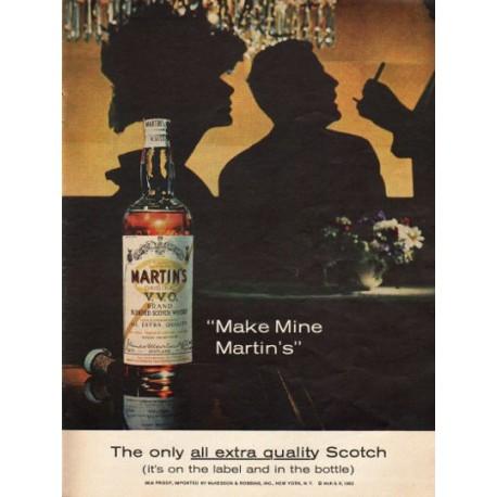 """1962 Martin's Scotch Ad """"all extra quality"""""""