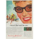"1958 American Optical Company Ad ""Glasses that tame the sun"""