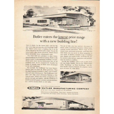"""1962 Butler Manufacturing Company Ad """"new building line"""""""