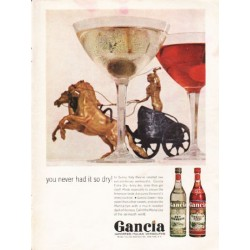"1962 Gancia Italian Vermouths Ad ""so dry"""