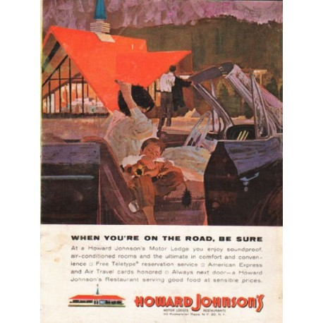"1962 Howard Johnson's Ad ""When you're on the road"""