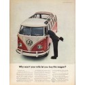 "1962 Volkswagen Station Wagon Ad ""Why won't your wife"" ~ (model year 1962)"
