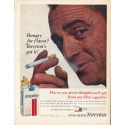 "1962 Tareyton Cigarettes Ad ""Hungry for flavor"""