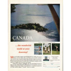 "1962 Canada Tourism and Travel Ad ""the wonderful world"""
