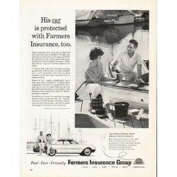 "1962 Farmers Insurance Group Ad ""His car is protected"""