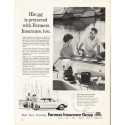 """1962 Farmers Insurance Group Ad """"His car is protected"""""""