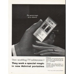 "1962 Admiral TV Portables Ad ""Two exciting TV advances!"""