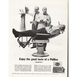 "1962 Phillies Cigars Ad ""the good taste of Phillies"""