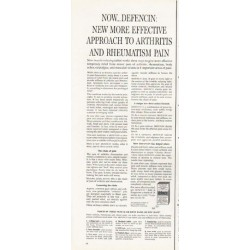 "1962 Defencin Ad ""arthritis and rheumatism pain"""