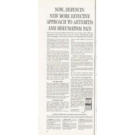 "1962 Defencin Ad ""arthritis and rheumatism pain"""