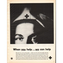 "1962 Red Cross Ad ""When you help"""