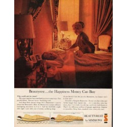 "1962 Beautyrest by Simmons Ad ""the Happiness Money Can Buy"""