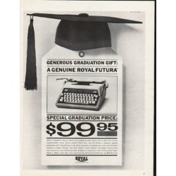 "1962 Royal Typewriter Ad ""Generous Graduation Gift"""