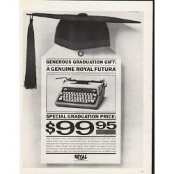 """1962 Royal Typewriter Ad """"Generous Graduation Gift"""""""
