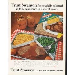 "1962 Swanson TV Dinner Ad ""Trust Swanson"""