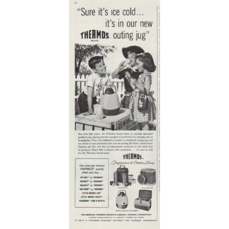 "1958 Thermos Ad ""outing jug"""