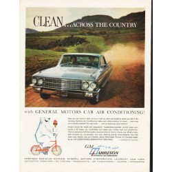 "1962 Harrison Automotive Air Conditioning Ad ""across the country"""