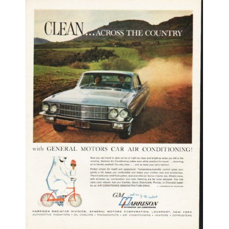 1962 Harrison Automotive Air Conditioning Vintage Ad