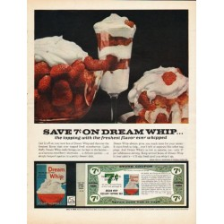 "1962 Dream Whip Topping Ad ""the topping with the freshest flavor"""