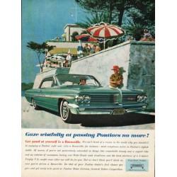 "1962 Pontiac Bonneville Ad ""Gaze wistfully"" ~ (model year 1962)"
