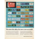"""1962 Atlas Tires Ad """"The more the miles"""""""