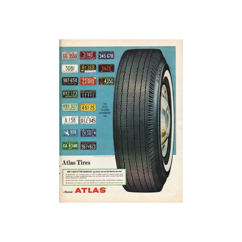 Vintage atlas tire display