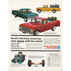 "1962 Ford Trucks Ad ""full-time economy"" ~ (model year 1962)"