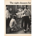 "1962 Hoover Cleaners Ad ""The right cleaners"""