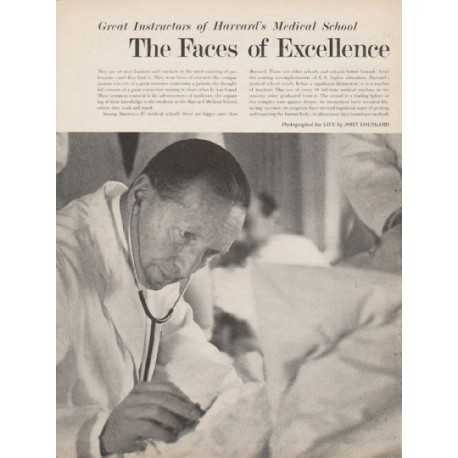 1962 Harvard Medical School Article ~ The Faces of Excellence