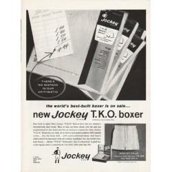 """1962 Jockey Boxers Ad """"new Jockey T.K.O. boxer"""""""