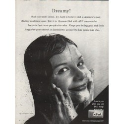 """1962 Dial Soap Ad """"Dreamy"""""""