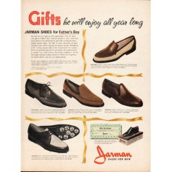 "1962 Jarman Shoes Ad ""Gifts he will enjoy"""