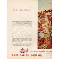 """1962 American Oil Company Ad """"Custer's Last Stand"""""""