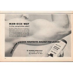 "1962 Mennen Speed Stick Ad ""Man-Size Way"""